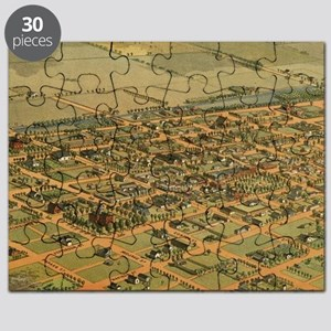 Vintage Pictorial Map of Phoenix Arizona (1 Puzzle