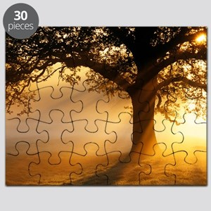 Oak tree at sunrise Puzzle