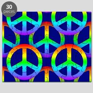 Rainbow Peace Sign Pattern Puzzle