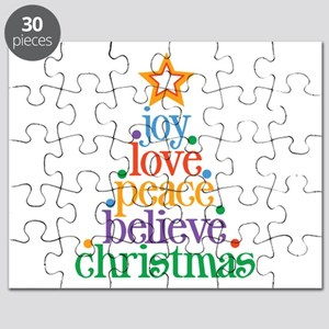 Joy Love Christmas Puzzle