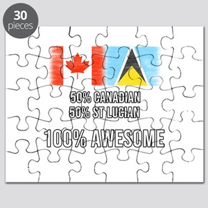 50% Canadian 50% St Lucian 100% Awesome Puzzle