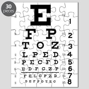 Eye Test Chart Puzzles Cafepress
