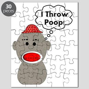 Monkey Throwing Poop Puzzles Cafepress