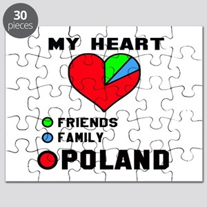My Heart Friends, Family and Poland Puzzle