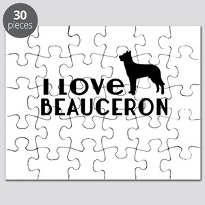 I Love Beauceron Puzzle