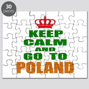 Keep Calm And Go To Poland Country Puzzle