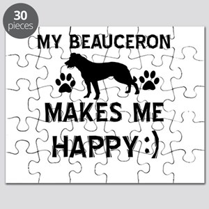 My Beauceron makes me happy Puzzle