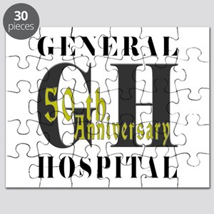 General Hospital 50th Black Puzzle
