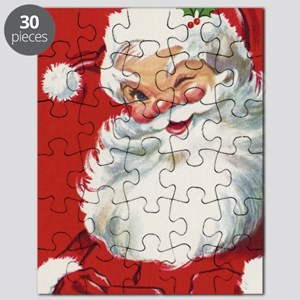 Vintage Christmas Jolly Santa Claus Puzzle