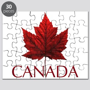 Canada Flag Maple Leaf Puzzle