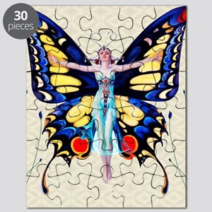 Art Deco Sensual B'fly Flapper Puzzle