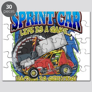 Lifes A Game Cheerleading Is Serious Puzzles - CafePress