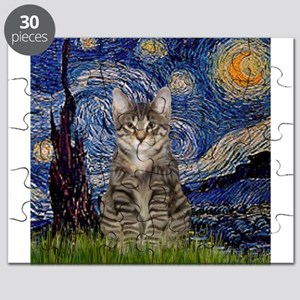 Starry Night & Tiger Cat Puzzle