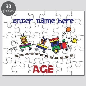 Personalized Birthday Train Puzzle