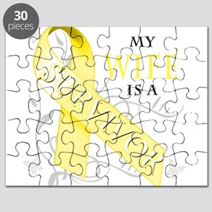 My Wife is a Survivor (yellow) Puzzle