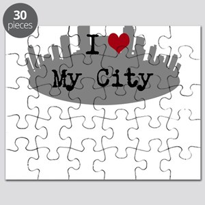 Customizable I Heart City Puzzle