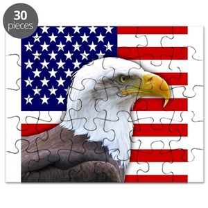 1101d8be36e84 American Flag Eagle Puzzles - CafePress