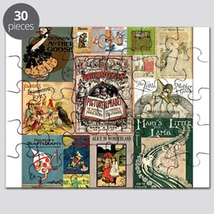 Vintage Book Cover Illustrations Puzzle