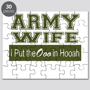 Army Wife Ooo in Hooah_Green Puzzle