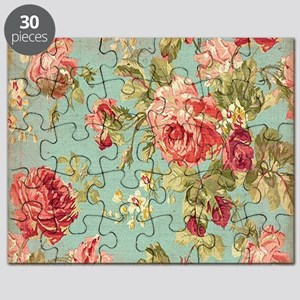 Beautiful Vintage rose floral Puzzle