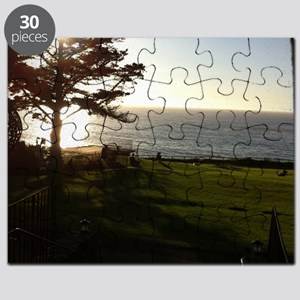 Front lawn at Esalen, Big Sur Puzzle