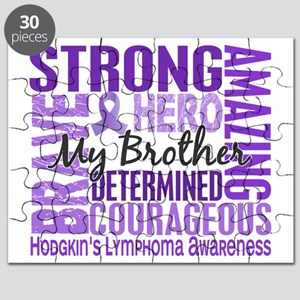 D Tribute Square Brother Hodgkins Lymphoma Puzzle