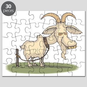 0637722d Funny Goat Puzzles - CafePress
