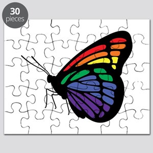 Rainbow Butterfly Gay Pride Puzzle