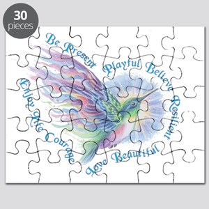 Hummingbird Heart Art Puzzle
