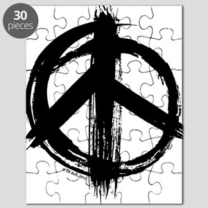 Peace sign - black Puzzle