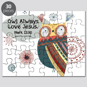 Owl Always Love Jesus Owl Puzzle