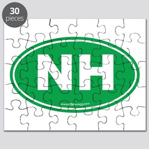 New Hampshire NH Euro Oval Puzzle