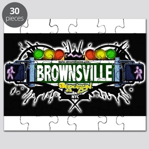 Brownsville Brooklyn NYC (Black) Puzzle