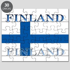 Finland Finish Flag Puzzle