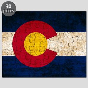 Vintage Flag of Colorado Puzzle