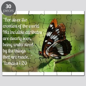Butterfly Romans 1:20 Puzzle