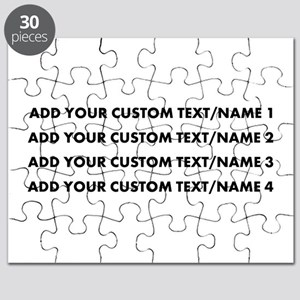 Add Custom Text/Name Puzzle