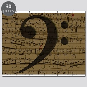 Musical Bass Clef sheet music Puzzle