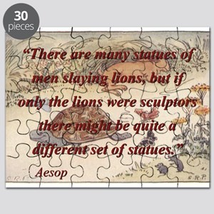 There Are Many Statues Of Men - Aesop Puzzle