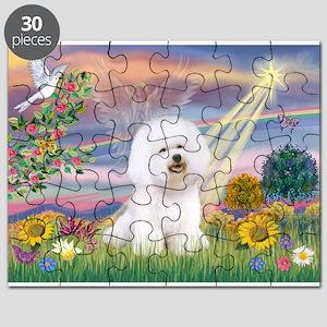 Cloud Angel & Bichon Puzzle