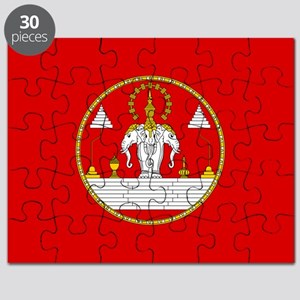 Laotian Royal Coat of Arms Puzzle