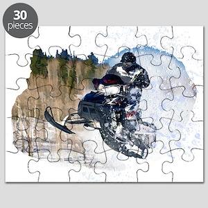 Airborne Snowmobile Puzzle