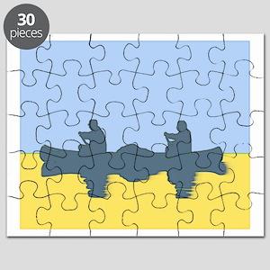 CHALK BLUE SKY CANOE Puzzle