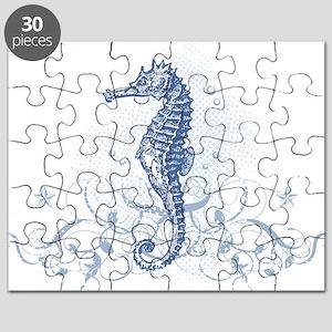 Blue Seahorse Puzzle