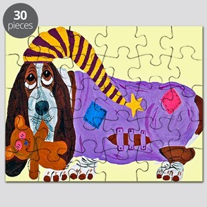 Basset Hound Bedtime Puzzle