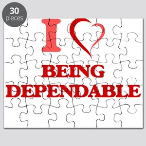 I Love Being Dependable Puzzle