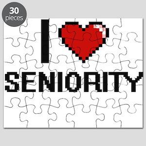 I Love Seniority Digital Design Puzzle