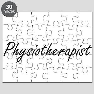 Physiotherapist Artistic Job Design Puzzle