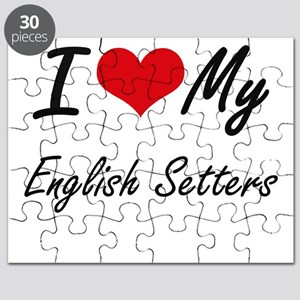 I Love my English Setters Puzzle