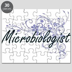 Microbiologist Artistic Job Design with Flo Puzzle